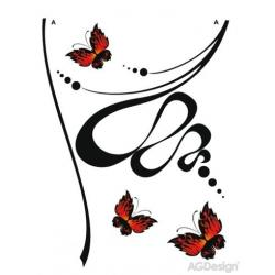 Samolepky na zeď abstrakce s motýly 65 x 85 cm AG Design FL 0480