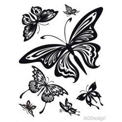 Samolepky na zeď motýli 65 x 85 cm AG Design FL 0483