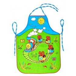 Zástěra dětská Vláček modrý