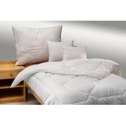 Přikrývka a polštář z dutého vlákna Luxus plus 140x200+70x90cm zimní bílá
