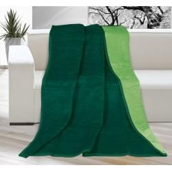 Deka jednobarevná KIRA PLUS 150x200cm tmavě zelená / zelená