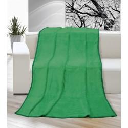 Deka Korall micro jednobarevná 200x230cm zelená