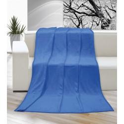 Deka Korall micro jednobarevná 200x230cm modrá