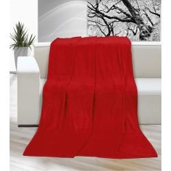 Deka Korall micro jednobarevná 200x230cm červená