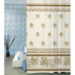 Koupelnový závěs Béžový list 180 x200 cm