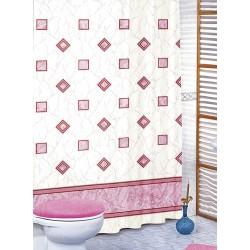 Koupelnový závěs Růžové čtverce 180 x200 cm