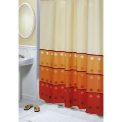 Koupelnový závěs Oranžová geometrie 180 x200 cm