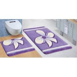 Koupelnová a WC předložka ULTRA Květ fialový