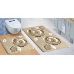 Koupelnová a WC předložka ULTRA Růže hnědé