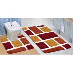 Koupelnová a WC předložka ULTRA Cihly terra