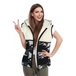 Vlněná vesta s kapucí - australské merino